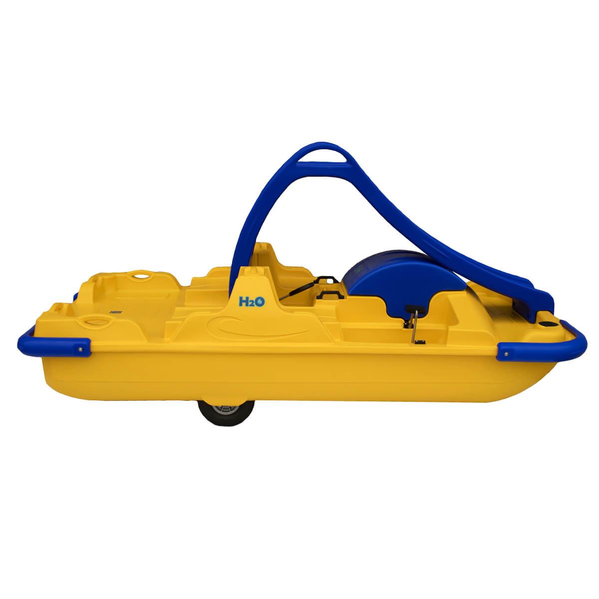 ho pedalo azzurro giallo per coppia con scivolo personalizzabile eurotank