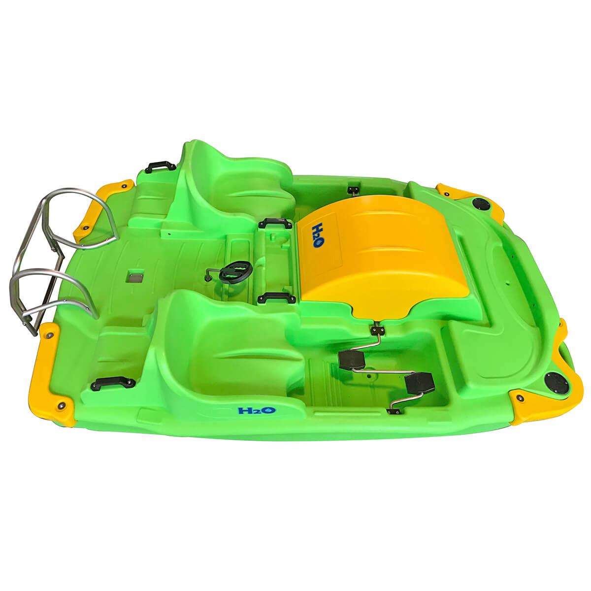 ho pedalo verde giallo per coppia eurotank